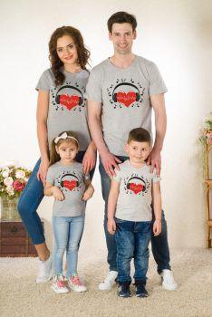 """Футболки """"АМОР"""" Family Look(жен,муж,детск) № 6105"""