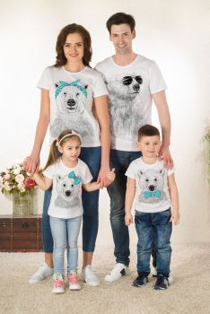 """ХИТ!!Футболки """"Медвежата"""" Family Look(жен,муж,детск)"""