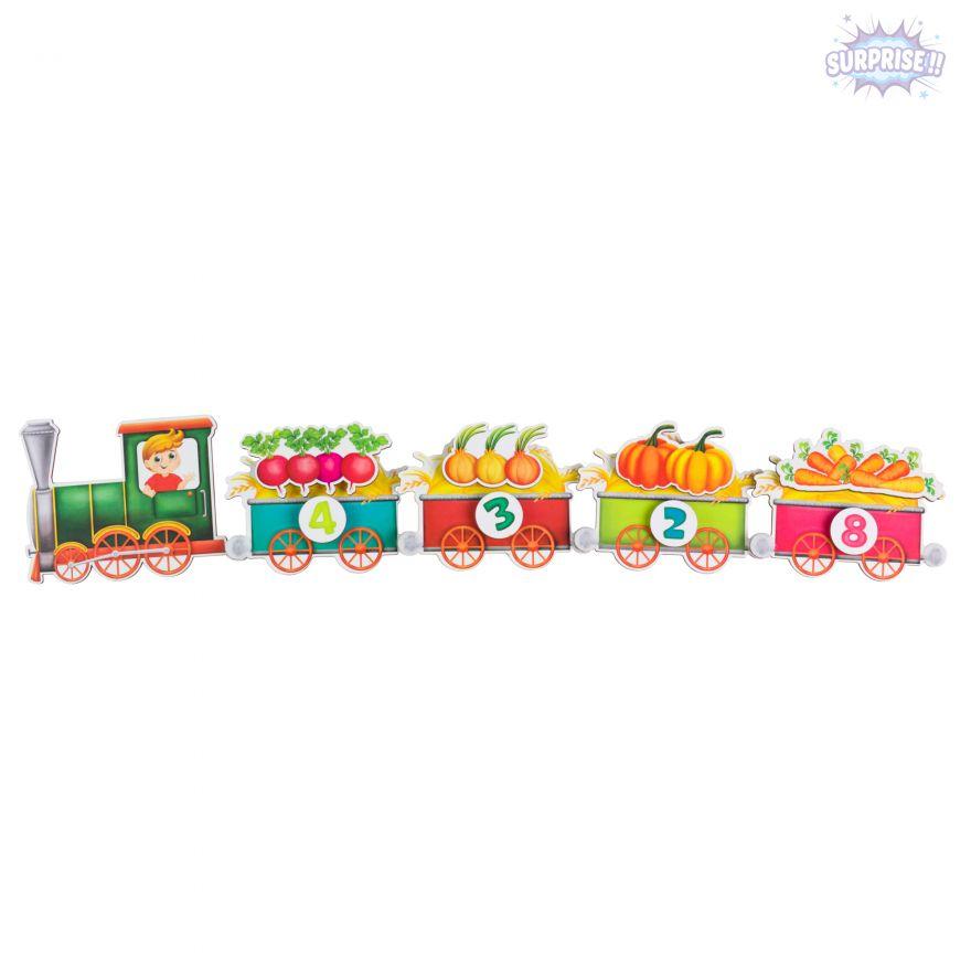Липучка поезд с овощами