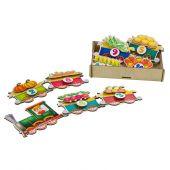 игра Липучка  «Поезд с овощами»