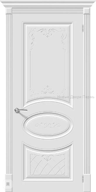 Скинни-20 Art Whitey  Дверь межкомнатная крашенная (Эмаль)