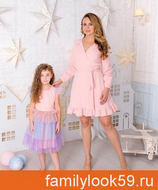 Селестия 1, комплект платьев для мамы и дочки.