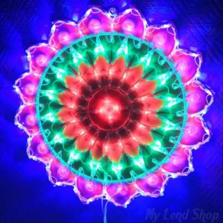 Новогодняя светодиодная фигура-панно Солнышко, 40 см