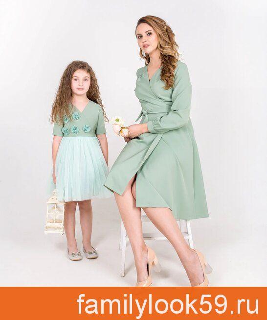 Мадлен 2, комплект платьев для мамы и дочки