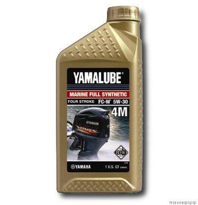 Yamalube 4M FC-W, SAE 5W-30, 4-тактное синтетическое для ПЛМ (0,946 л)