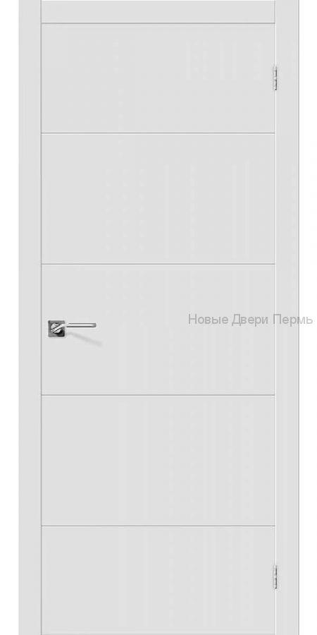Скинни - 2 Whitey  Дверь межкомнатная крашенная (Эмаль)