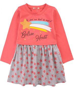 """Платье для девочек Bonito 3-7 лет """"Belive Heart"""" персиковое"""