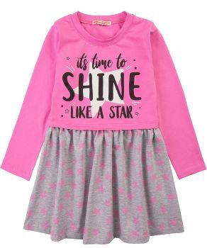 """Платье для девочек Bonito 3-7 лет """"Like a star"""" розовое"""