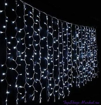 Светодиодная гирлянда Шторка 240 LED, 2х2 м, Разноцветный