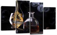 Модульная картина Бокал с виски