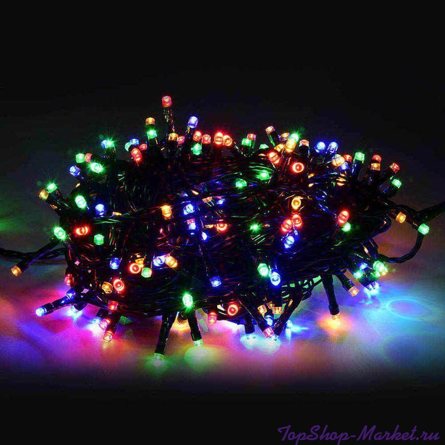 Светодиодная гирлянда 100 LED 8м, Разноцветный