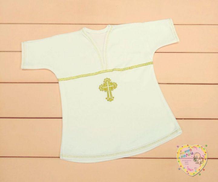 Крестильная рубашка интерлок (размер 68) V-RP033(k)-ITp(b)