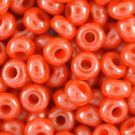 Бисер чешский 93141 непрозрачный оранжевый блестящий Preciosa 1 сорт купить оптом