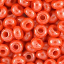 Бисер чешский 93141 непрозрачный оранжевый блестящий Preciosa 1 сорт