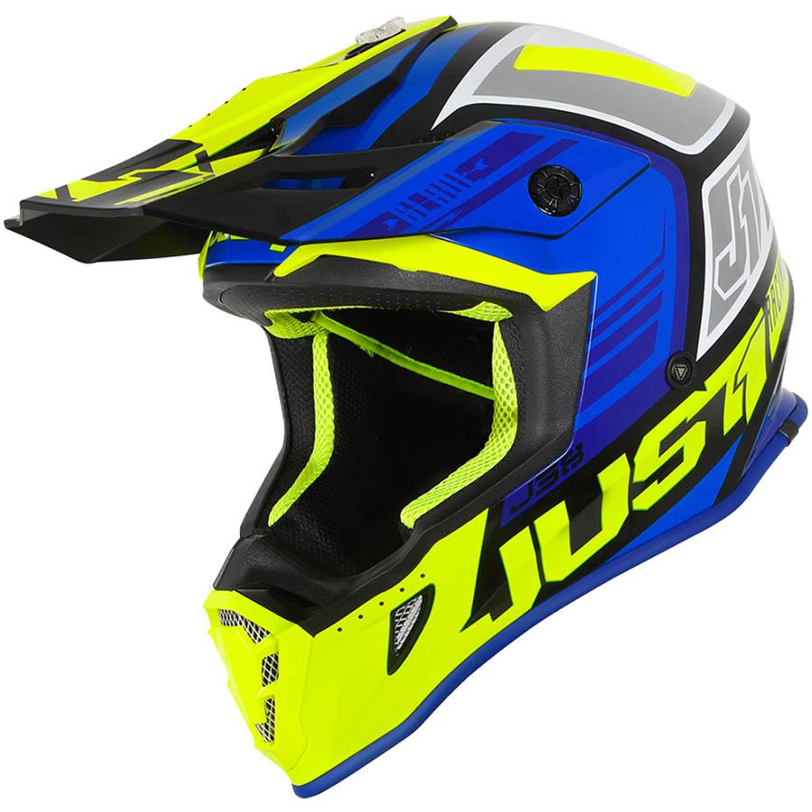 Just1 - J38 Blade Blue/Fluo Yellow/Black шлем, сине-желто-черный