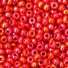 Бисер чешский 94190 непрозрачный красно-малиновый радужный Preciosa 1 сорт