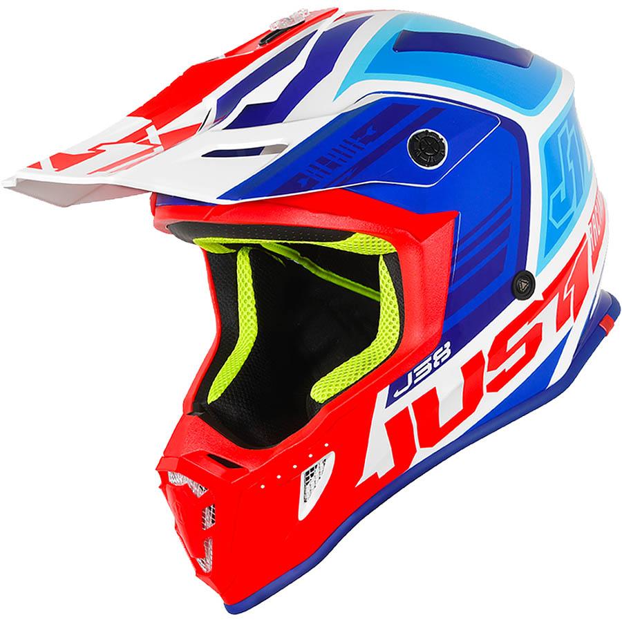 Just1 - J38 Blade Blue/Red/White Gloss шлем, сине-красно-белый