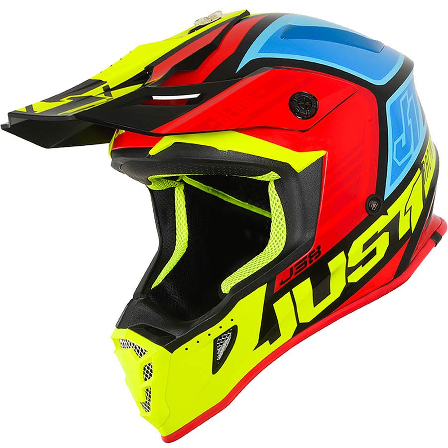 Just1 - J38 Blade Yellow/Red/Blue Gloss шлем, желто-красно-синий