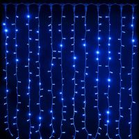Светодиодная Гирлянда Шторка LED, Цвет Свечения Синий