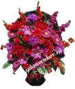 Ритуальная корзина из искусственных цветов N24, РАЗМЕР 60см, 80см,90 см