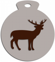 Новогодняя игрушка с оленем