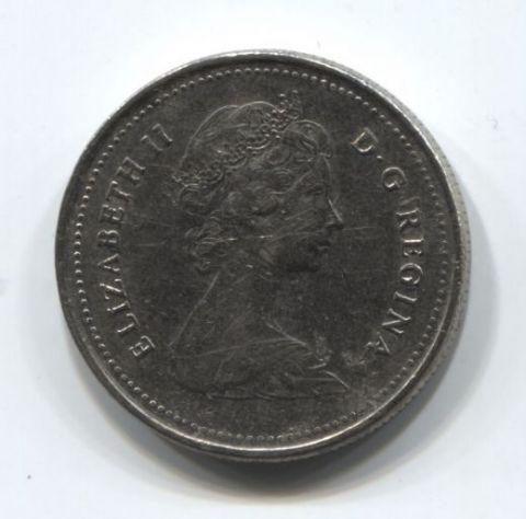 25 центов 1982 года Канада VF