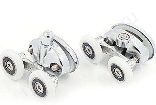 Ролик для душевой кабины VH057-хром (комплект 8шт) Диаметр колеса (от 18,6 до 28мм)