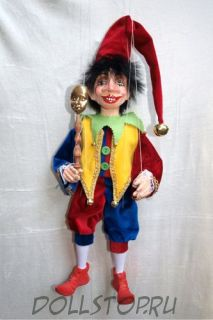 Кукла-марионетка Шут   -  ŠAŠEK  (Чехия, Praha, Hand Made, авторы  Ивета и Павел Новотные)