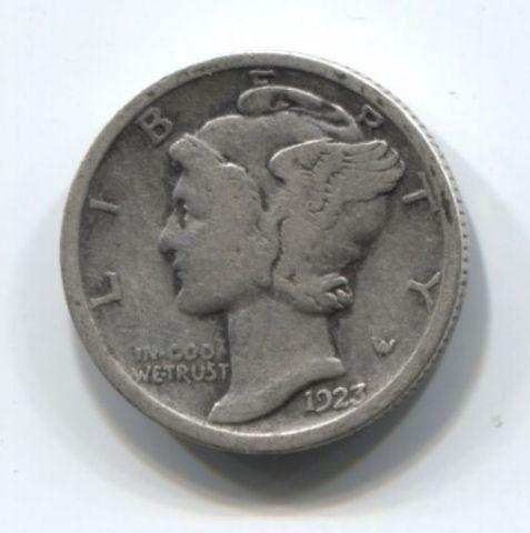 1 дайм 1923 года США