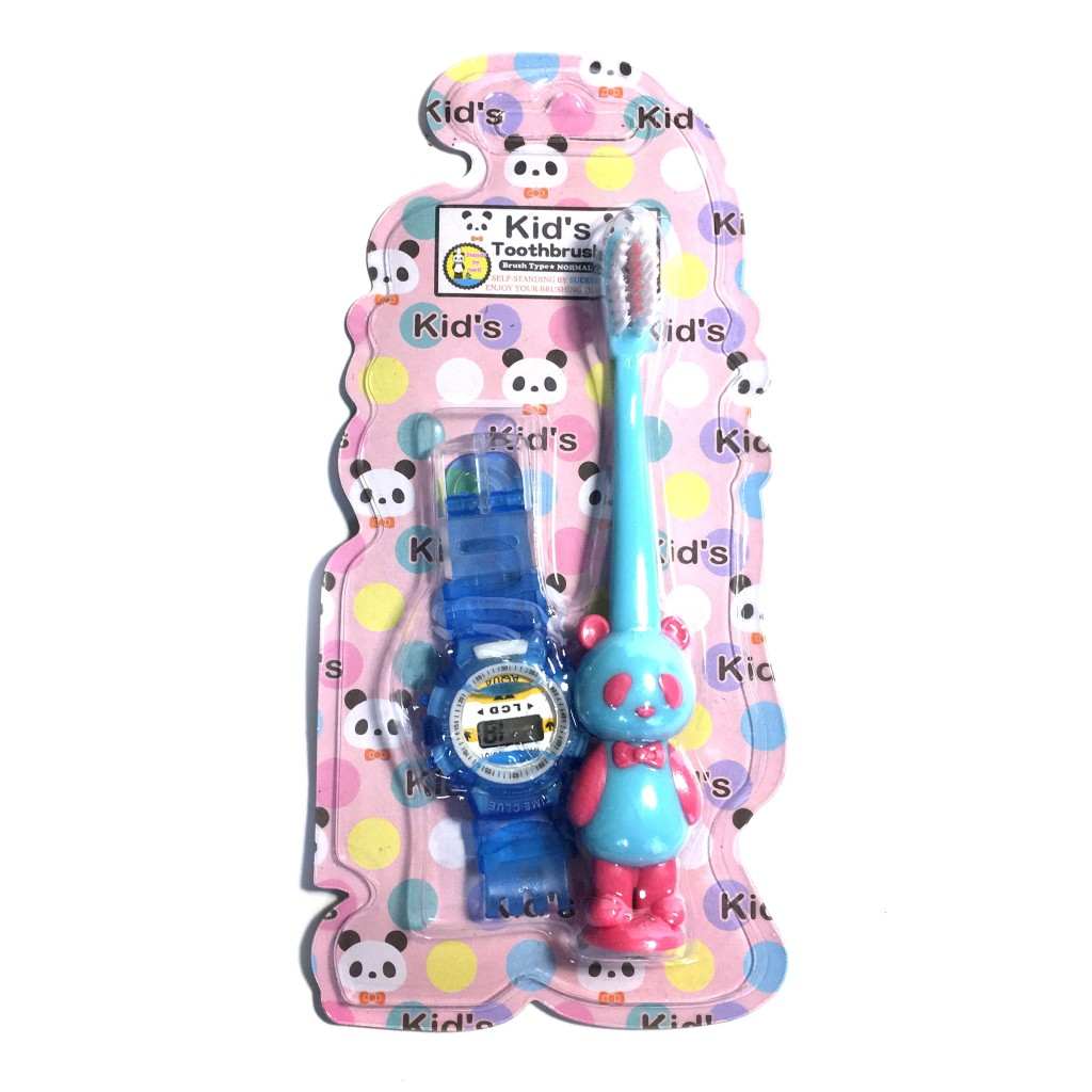Детская зубная щетка с часами/машинкой Kid's Toothbrush, 14 см