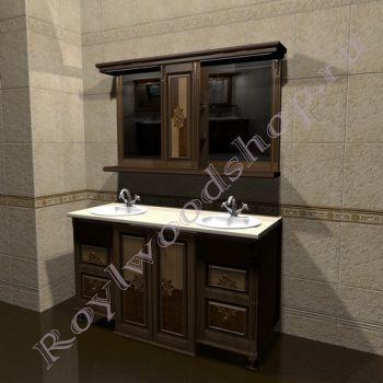 """Мебель для ванной """"Челси-2 double M орех"""""""