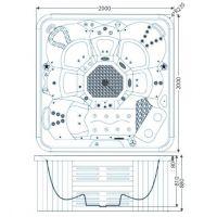 Гидромассажный бассейн IQUE Corsica 2000-CFL