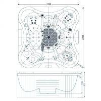 Гидромассажный бассейн IQUE Eden 2310-EP (WiFi) (229х229х96)
