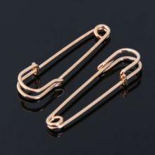 Булавка для подвесок PO-065 №04, (набор 2 шт)65*5мм, цвет золота   3527020