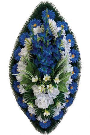 Траурный венок из искусственных цветов - Классика #03