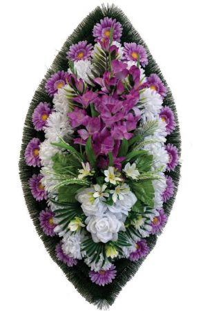Траурный венок из искусственных цветов - Классика #05