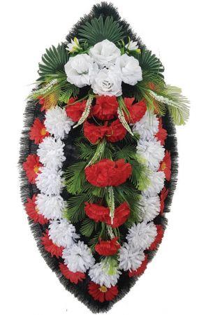 Траурный венок из искусственных цветов - Классика #09