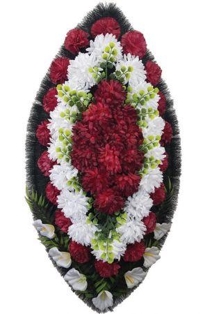 Траурный венок из искусственных цветов - Классика #13