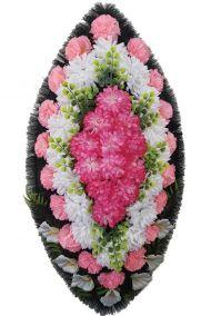Траурный венок из искусственных цветов - Классика #15
