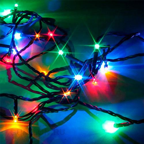 Новогодняя светодиодная гирлянда 300 LED лампочек 16 метров