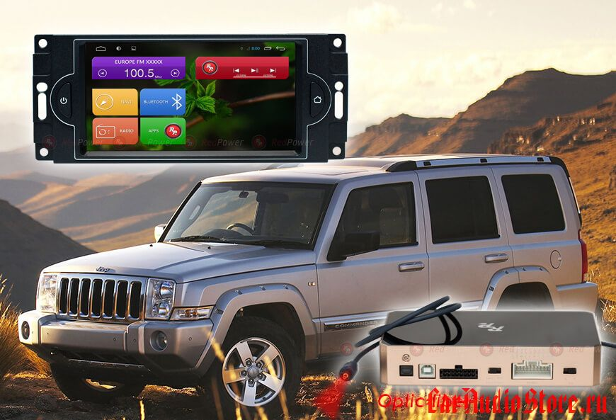 Jeep Сommander, Wrangler (2005-2007) RedPower 31220 IPS DSP ANDROID 7