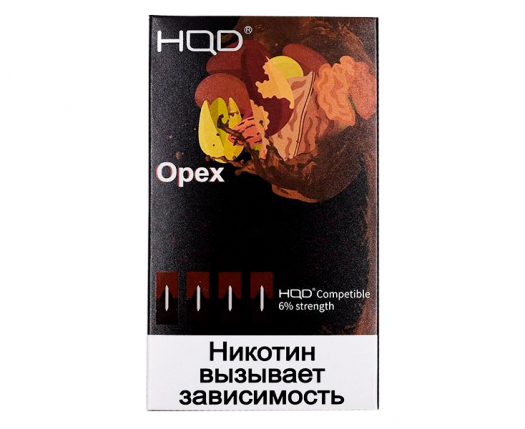 Картриджи HQD Орех (4 шт) 6%