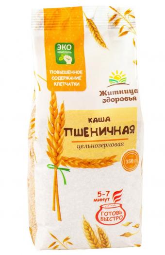 ЖИТНИЦА ЗДОРОВЬЯ Каша (манка) пшеничная цельнозерновая 350 г