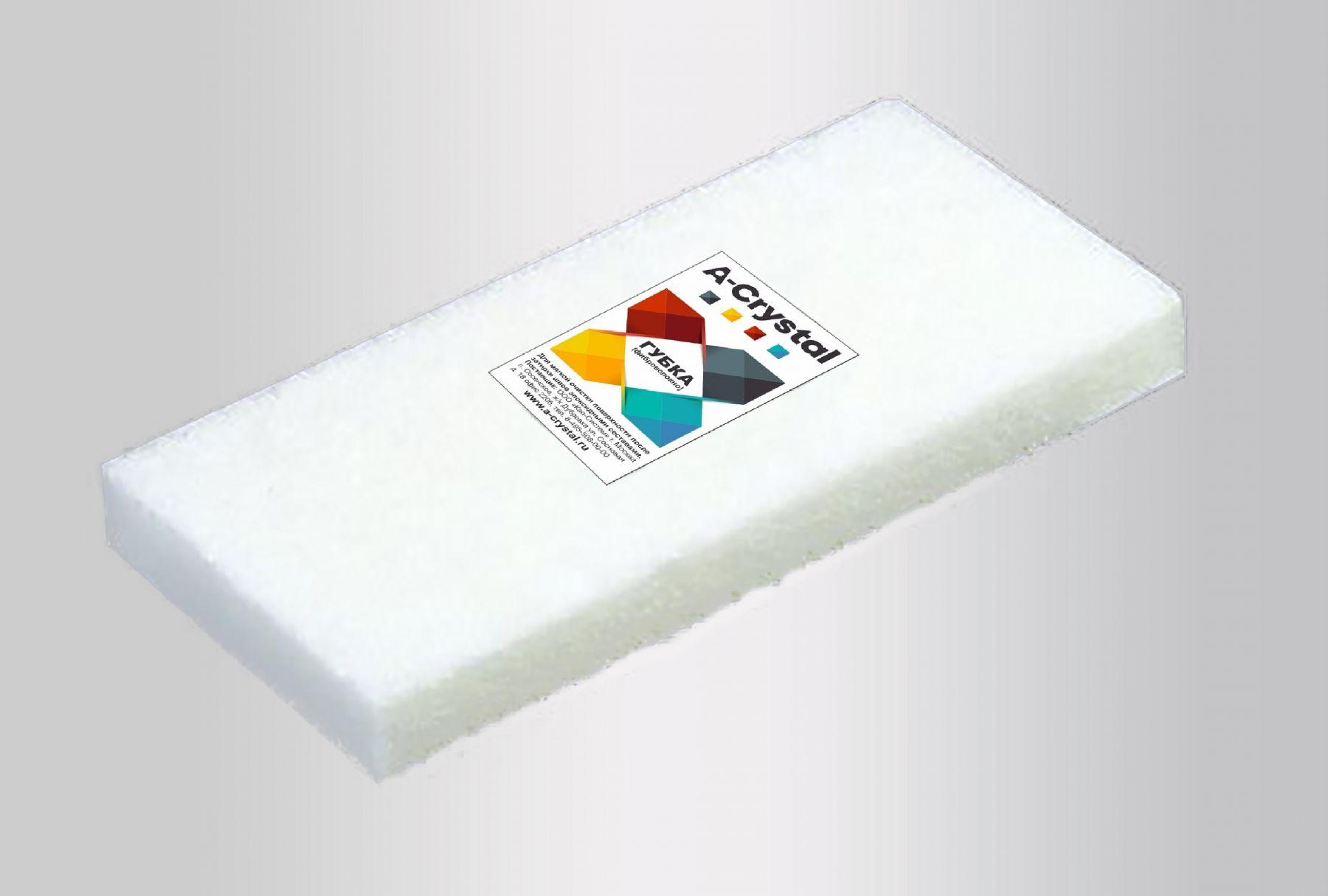 Губка фиброволокна A-Crystal для удаления затирки
