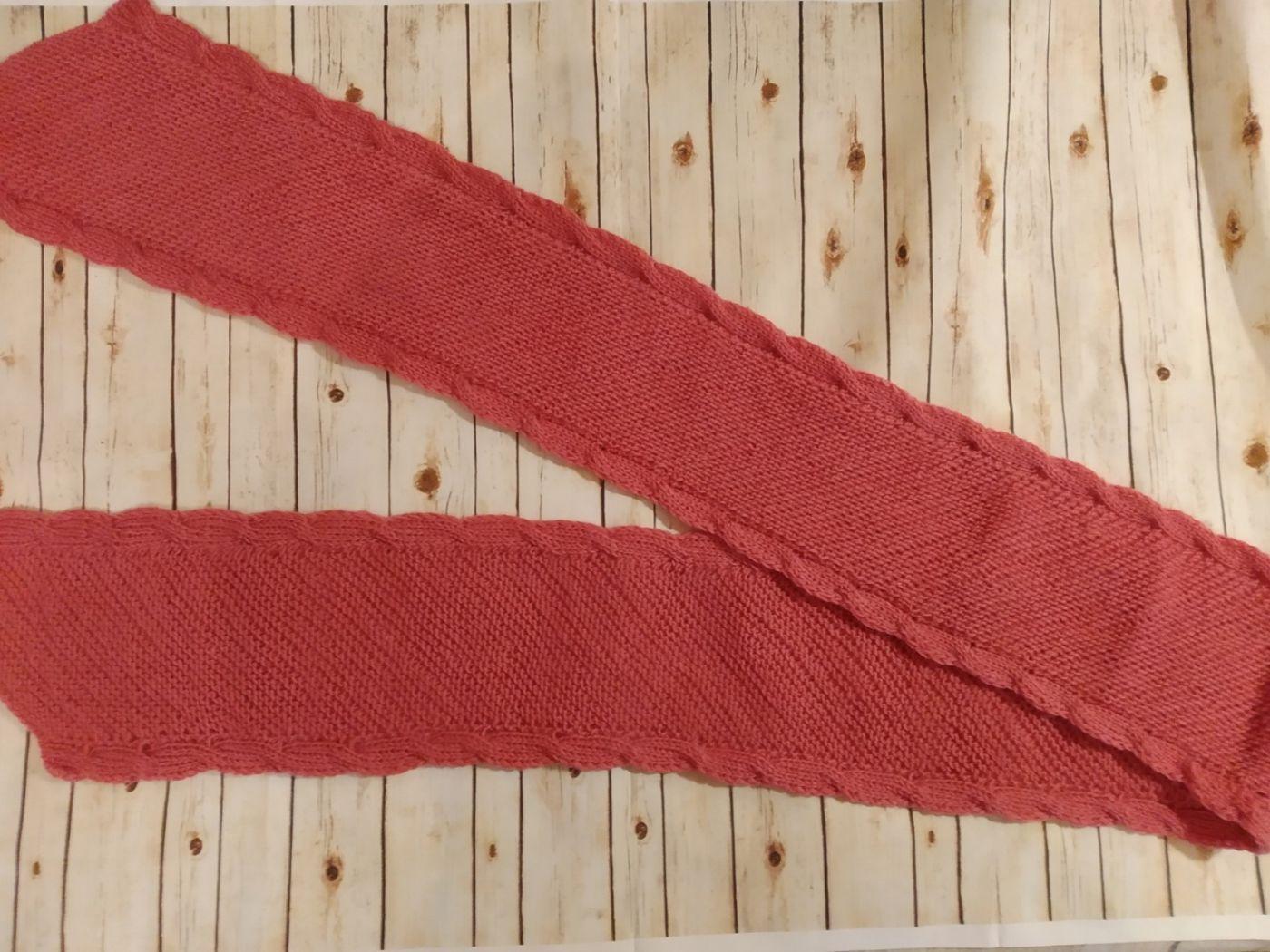 Двусторонний шарф. Шарф в подарок(Темная роза)