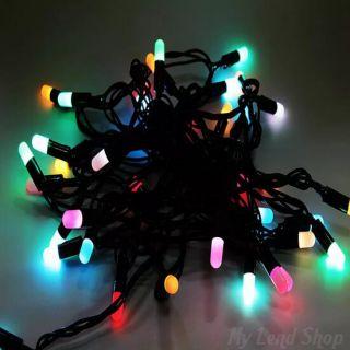 Разноцветная светодиодная гирлянда-нить 28 ламп, 4 м
