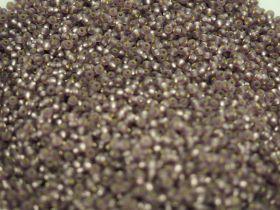 Бисер чешский 27010 матовый прозрачный фиолетовый серебряная линия внутри Preciosa 1 сорт купить оптом