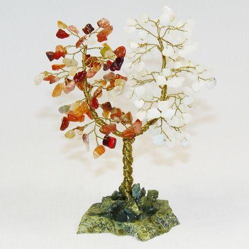 Дерево Любви - Сердолик и Агат белый