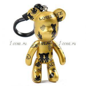 Брелок STYLE Love&peace золотой