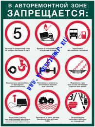 В авторемонтной зоне запрещается